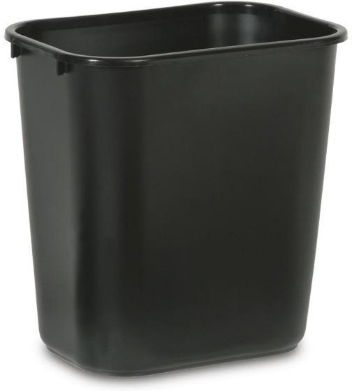 Rubbermaid Rechteckiger Papierkorb 26,6 L schwarz