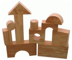 Baby to Love Wood-Like Soft Blocks