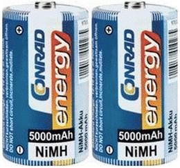 Image of Conrad Energy 2x D Mono 1,2V 5000mAh NiMH (250306)