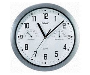 Conrad Quartz wall clock with thermometer / hygrometer (6992)