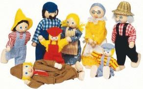 Legler Farmer Family Dolls