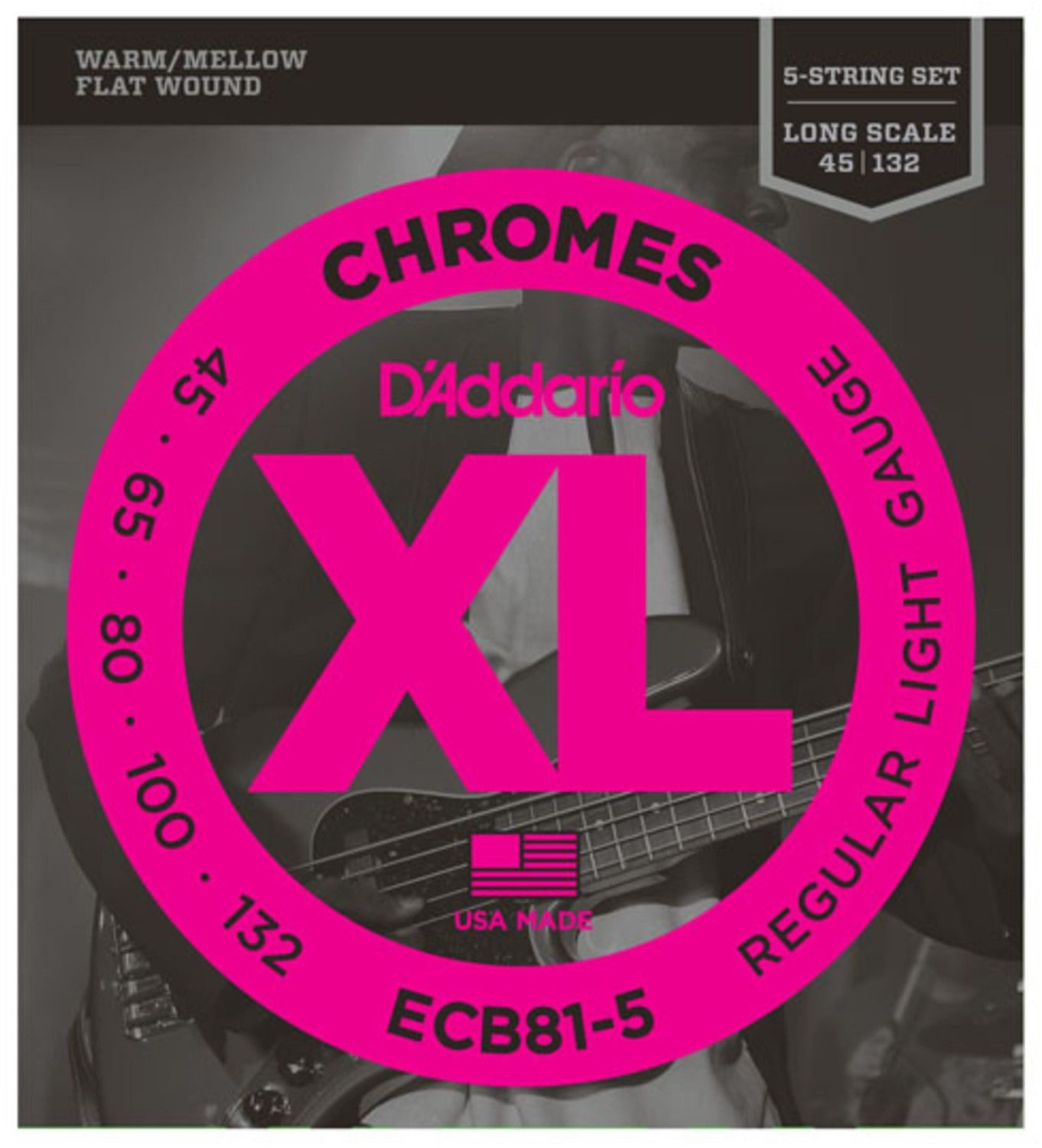 Image of D'Addario ECB81-5SL Set Super Long Scale 5-String 45-132