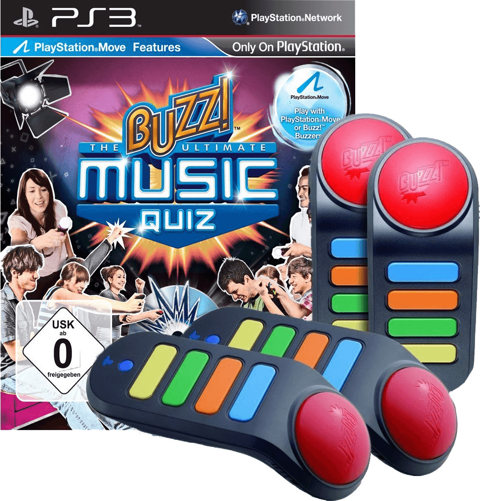 Buzz! - Das ultimative Musikquiz + Buzzer (PS3)