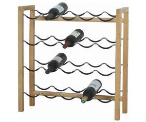 Holz-Metall Selbstbausatz Flaschenregal für Wein Weinflasche Weinregal