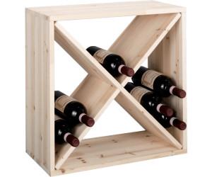Zeller Étagère à vin en bois naturel au meilleur prix sur idealo.fr