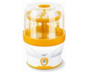 desinfiziert bis zu 6 Flaschen ohne chemische Zus/ätze Beurer BY 76 digitaler Dampfsterilisator