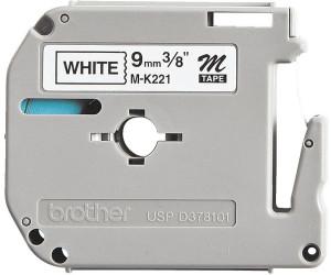 BROTHER MK221 Schriftbandkassette 9mm 8m schwarz//weiss