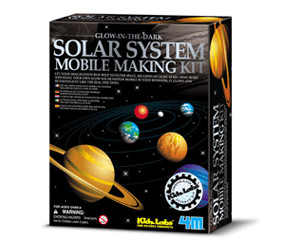 Image of 4M Glow in the Dark - Solar system mobile making kit