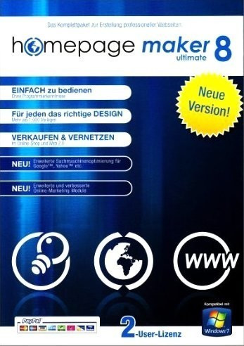 bhv Homepage Maker 8 Ultimate (DE) (Win)