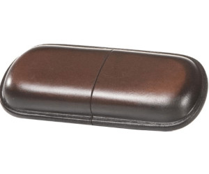 Mika Large Glasses Case 18cm Smooth Brown