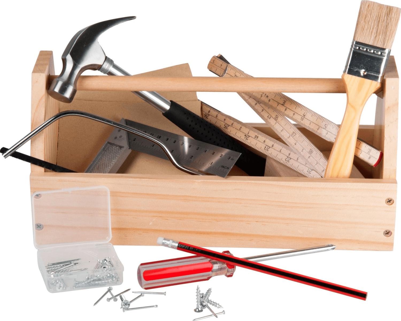 Micki Holz-Werkzeugkasten mit Werkzeug