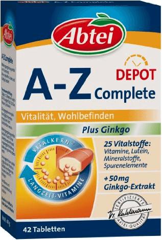 Abtei A-Z Complete plus Ginkgo Kapseln (42 Stk.)
