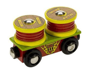 Image of Bigjigs Cable Rolls Wagon