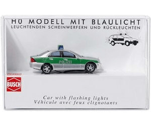 Image of Busch Model Police Mercedes-Benz C-Class T-Model (5630)