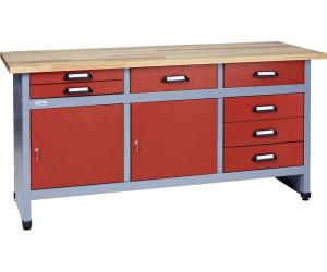 k pper werkbank 170 cm 2 t ren 7 schubladen 1227 ab. Black Bedroom Furniture Sets. Home Design Ideas