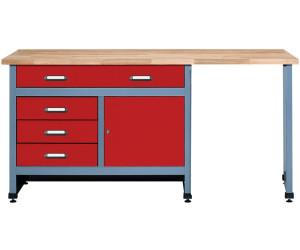 k pper werkbank 170 cm 1 t r sitzraum 1203 ab 297 49 preisvergleich bei. Black Bedroom Furniture Sets. Home Design Ideas