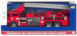 The Toy Company City - Feuerwehr mit Leiter und Funktionen