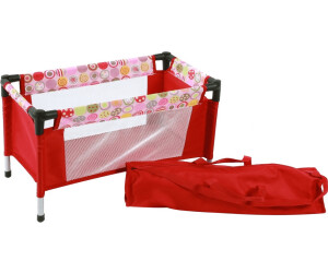 Puppen & Zubehör Puppen-Reisebett Dessin Pink Checker