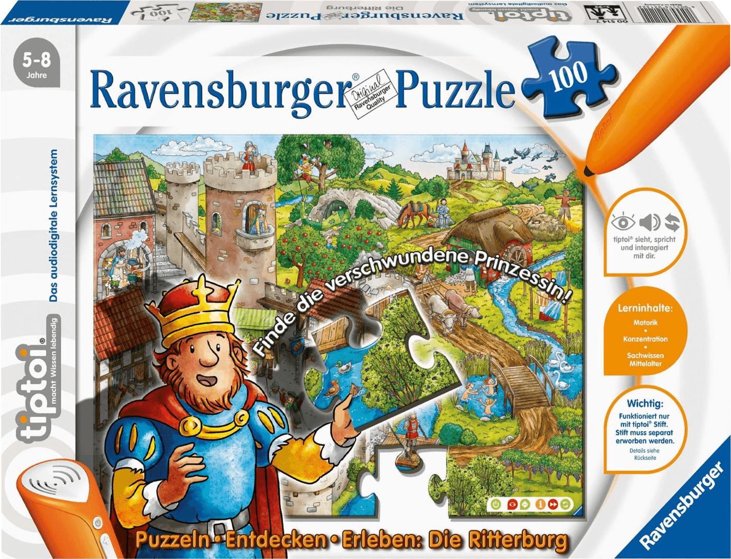 Ravensburger tiptoi - Puzzeln, Entdecken, Erleben - Die Ritterburg (100 Teile)