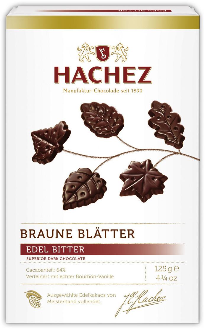 Hachez Braune Blätter Bitter - Schokolade (125 g)
