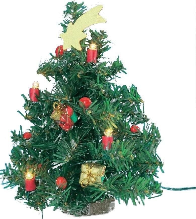 Kahlert Licht 12cm Christmas Tree with 4 bulbs