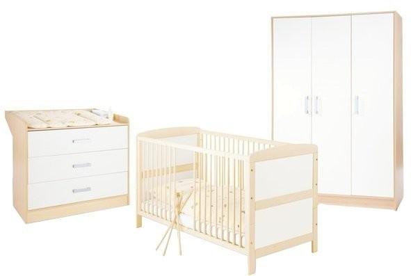 Pinolino Kinderzimmer Florian groß 3-tlg.: Bett, Wiko, großer Schrank (DV)