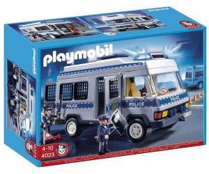 playmobil fourgon quip et policiers 4023 au meilleur prix sur. Black Bedroom Furniture Sets. Home Design Ideas