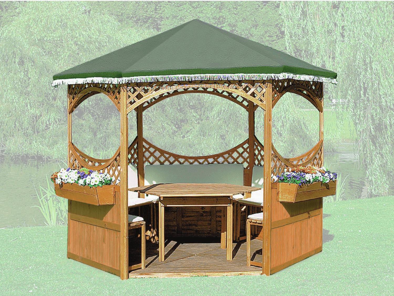 Promex Pavillon Palma mit grünem Foliendach