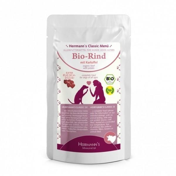 Herrmanns Hundefutter Bio Huhn mit Hirse (130 g)