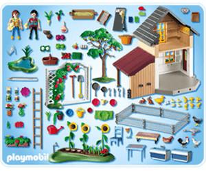 playmobil maison des fermiers et march 5120 au meilleur prix sur. Black Bedroom Furniture Sets. Home Design Ideas