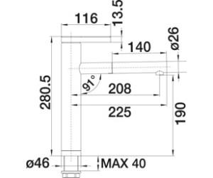 blanco linee s 517591 ab 190 00 preisvergleich bei. Black Bedroom Furniture Sets. Home Design Ideas