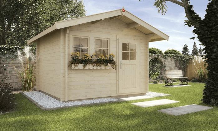 Weka 139 A Gr. 1 (300 x 250 cm + 60cm Vordach)   Baumarkt > Modernisieren und Baün > Vordächer   Holz - Fichte