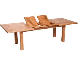 merxx comodoro doppelausziehtisch 180 260 x 100 cm eukalyptus ab 324 88 preisvergleich bei. Black Bedroom Furniture Sets. Home Design Ideas