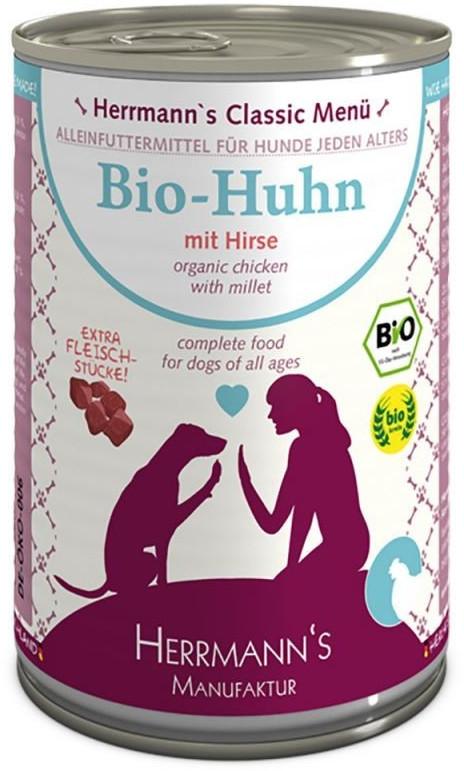 Herrmanns Hundefutter Bio Huhn mit Hirse (400 g)