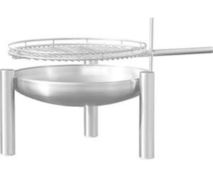 ricon feuerschale edelstahl mit grill 60 cm 58 ab 429 00 preisvergleich bei. Black Bedroom Furniture Sets. Home Design Ideas