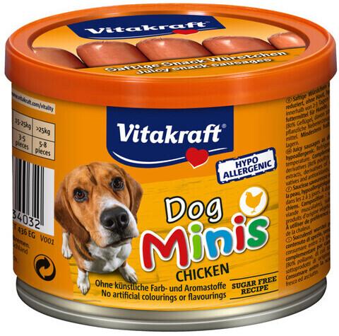 Vitakraft Dog Minis 12 Snack Würstchen mit Hühn...