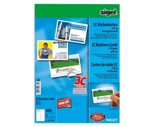 Sigel Ip526 Visitenkarten 85x55mm 210g Qm Ab 14 33