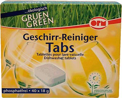 ORO Green Geschirr-Reiniger Tabs (40 Stk.)