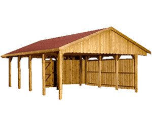 skan holz satteldach einzel carport tiefe 600 cm ab preisvergleich bei. Black Bedroom Furniture Sets. Home Design Ideas