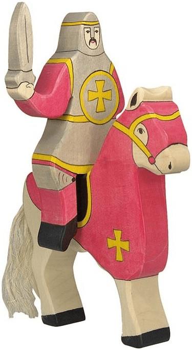 Holztiger Ritter reitend rot (80254)