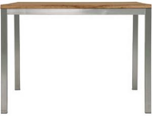 Zebra Greenline Naxos Tisch 160 x 90 cm (Edelstahl-Old Teak)
