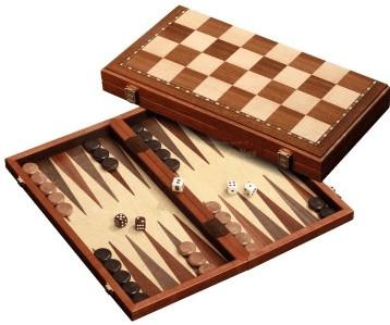 Schach-Backgammon-Dame-Set magnetisch (2524)