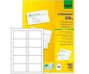 Sigel Lp801 Visitenkarten 85x55mm 250g Qm Hochweiß Ab 29