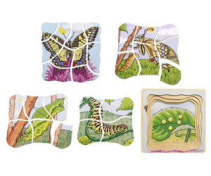 Image of beleduc Layer Puzzle Butterfly (28 pcs)
