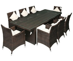 jet line gartenm bel rattan modell palermo tisch 240 cm 8 stapelsessel ab. Black Bedroom Furniture Sets. Home Design Ideas