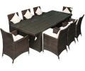 outsunny polyrattan sitzgruppe 6 st hle 4 hocker inkl kissen 27 tlg 841 162 ab 502 95. Black Bedroom Furniture Sets. Home Design Ideas