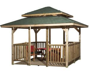 weka pavillon paradies 4 mit dachaufbau 3 80 x 3 80 m ab preisvergleich bei. Black Bedroom Furniture Sets. Home Design Ideas