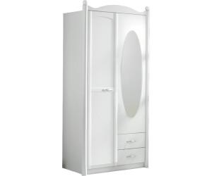 rauch kleiderschrank lilly mit spiegel 2 t rig ab 254 15 preisvergleich bei. Black Bedroom Furniture Sets. Home Design Ideas