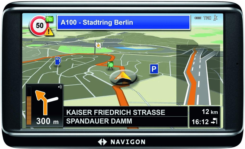 Navigon 70 Easy Navigationssystem (12,7 cm (5 Zoll) Display, Europa 20, TMC, Aktiver Fahrspurassistent, Navigon MyBest POI, Navigon MyRoutes) 4020907014425