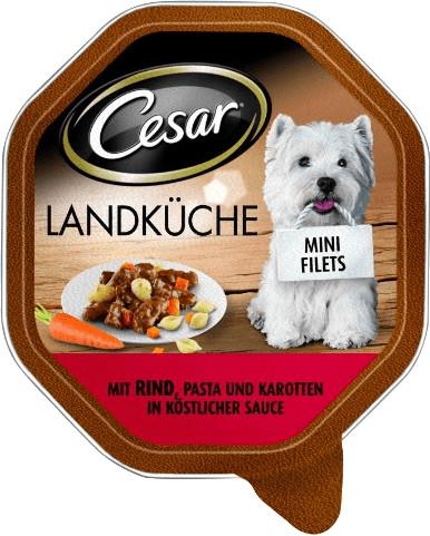 Cesar Mini Filets in Sauce mit Rind, Pasta & Ka...